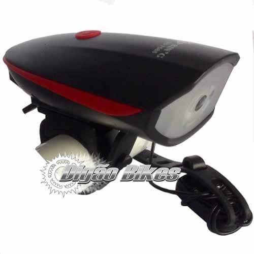 Farol Dianteiro USB Speaker Bicycle Lght com Buzina