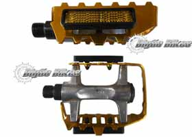 Pedal Alumínio CHF-01B Polido e Dourado com Refletivo