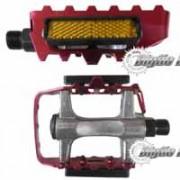 Pedal Alumínio CHF-01B Polido e Vermelho com Refletivo