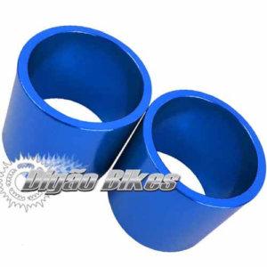 Espaçador em Alumínio 30 mm Azul